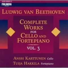 Anssi Karttunen, Tuija Hakkila / Beethoven : Complete Works For Cello And Fortepiano Vol.3 (수입/4509999552)